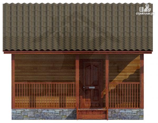 Фото 2: проект одноэтажная деревянная баня с террасой