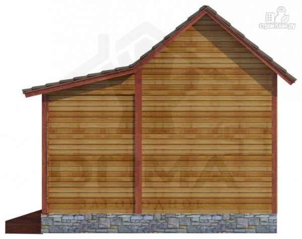 Фото 3: проект одноэтажная деревянная баня с крыльцом