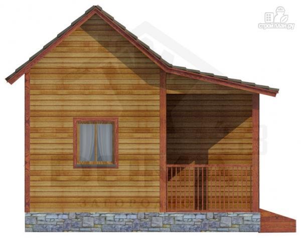 Фото 5: проект одноэтажная деревянная баня с крыльцом