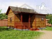 Фото: одноэтажная деревянная баня с крыльцом
