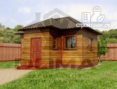 Фото: проект деревянная баня 6х5.5