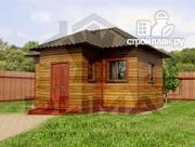 Проект деревянная баня 6х5.5
