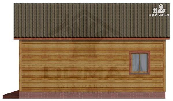 Фото 3: проект одноэтажная банька 6х6 из бруса