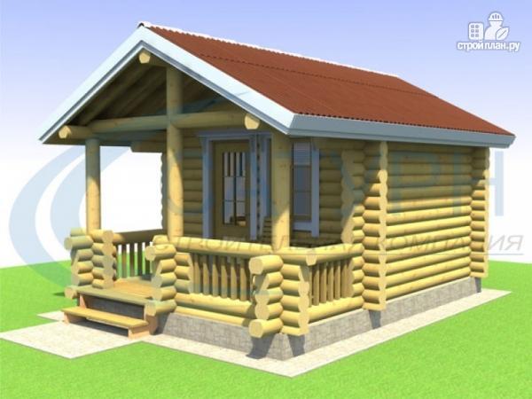 Фото: проект небольшой уютный деревянный  дом с террасой