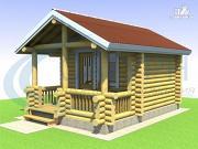 Фото: небольшой уютный деревянный  дом с террасой