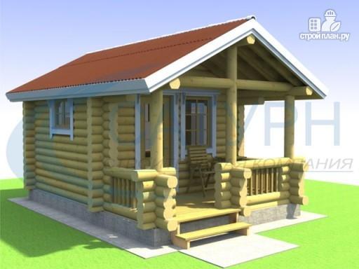 Фото 3: проект небольшой уютный деревянный  дом с террасой