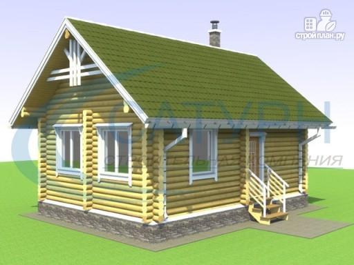 Фото 3: проект одноэтажный деревянный дом