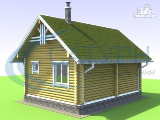 Фото 6: проект одноэтажный деревянный дом