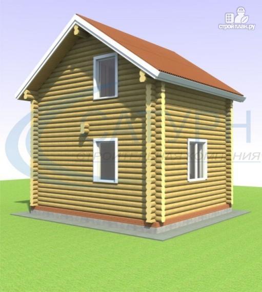 Фото 4: проект дачный дом в полтора этажа