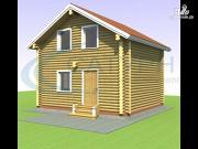 Проект дачный дом в полтора этажа