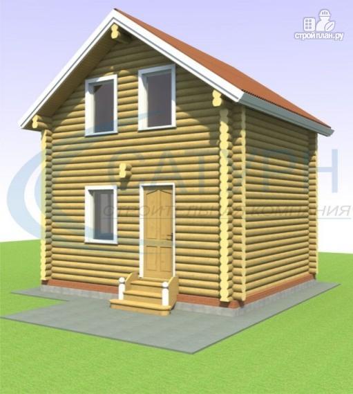 Фото 6: проект дачный дом в полтора этажа