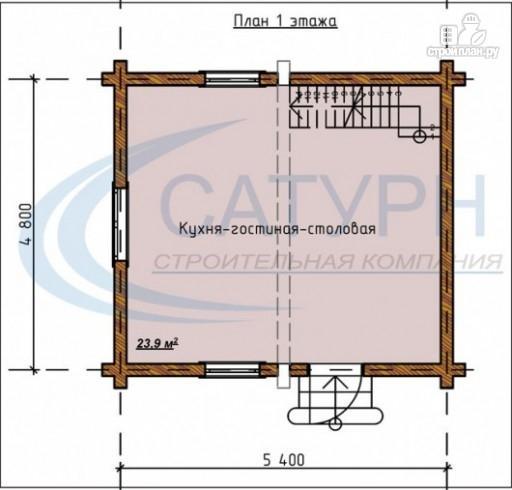 Фото 2: проект дачный дом в полтора этажа