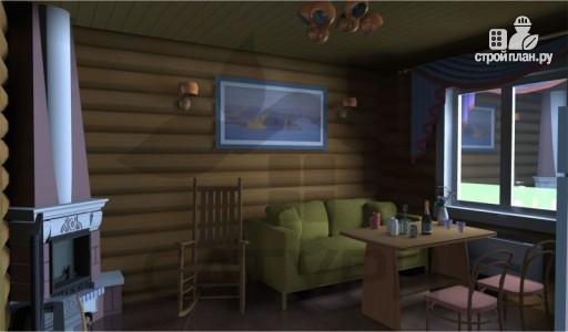 Фото 7: проект деревянный дом с камином и террасой