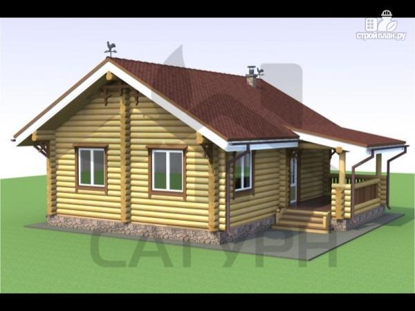 Фото: проект деревянный дом с камином и террасой