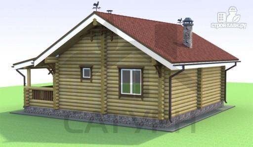 Фото 5: проект деревянный дом с камином и террасой