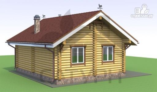 Фото 4: проект деревянный дом с камином и террасой
