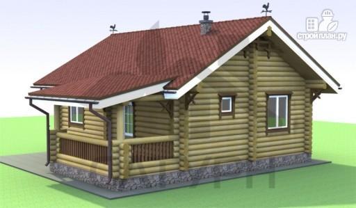Фото 6: проект деревянный дом с камином и террасой