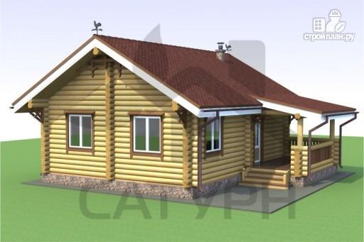 Фото 3: проект деревянный дом с камином и террасой