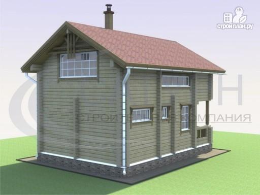 Фото 5: проект деревянный дом с сауной и террасой