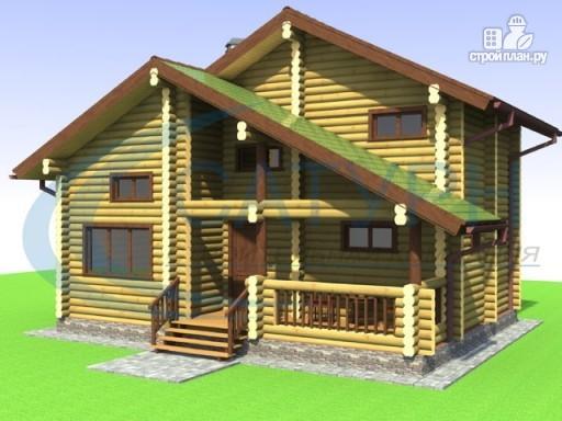 Фото 4: проект деревянный дом со вторым светом на кухне и в гостиной