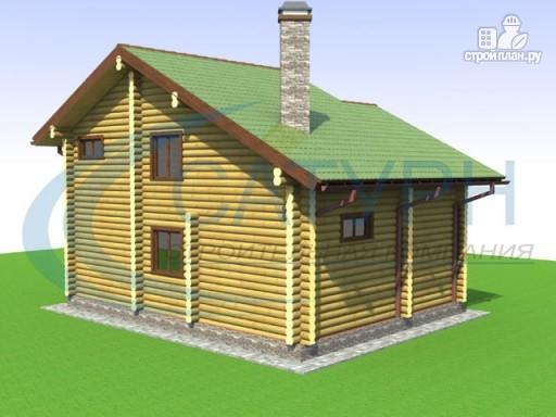 Фото 6: проект деревянный дом со вторым светом на кухне и в гостиной