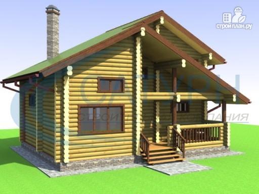Фото 7: проект деревянный дом со вторым светом на кухне и в гостиной