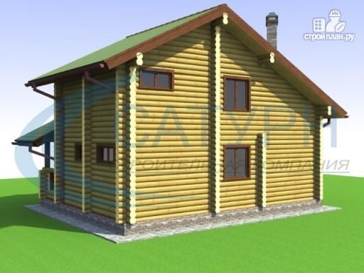 Фото 5: проект деревянный дом со вторым светом на кухне и в гостиной
