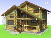Проект деревянный дом со вторым светом на кухне и в гостиной