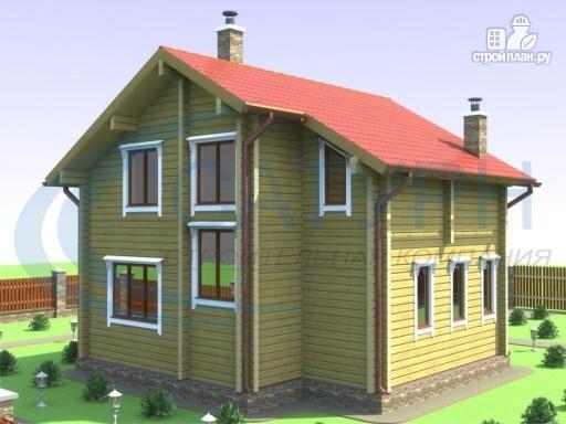 Фото 6: проект деревянный дом в полтора этажа с балконом