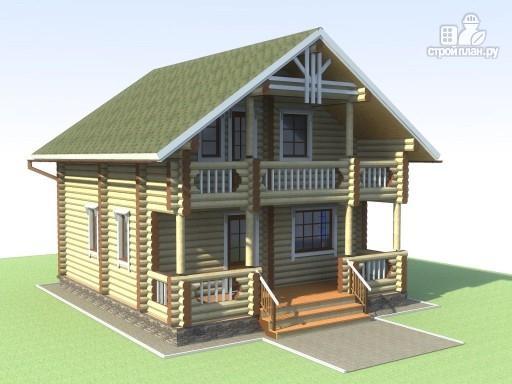 Фото 6: проект деревянный дом 6х7 с мансардой и террасой