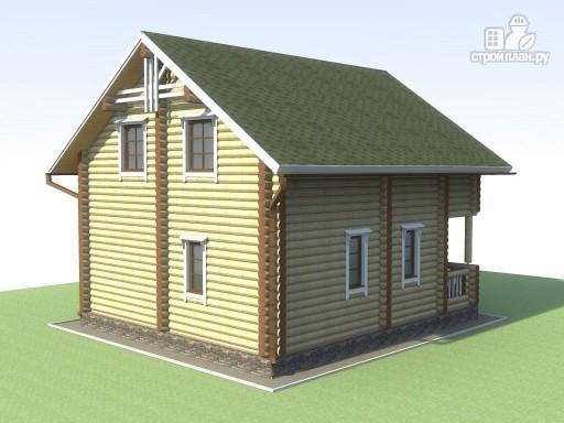 Фото 4: проект деревянный дом 6х7 с мансардой и террасой