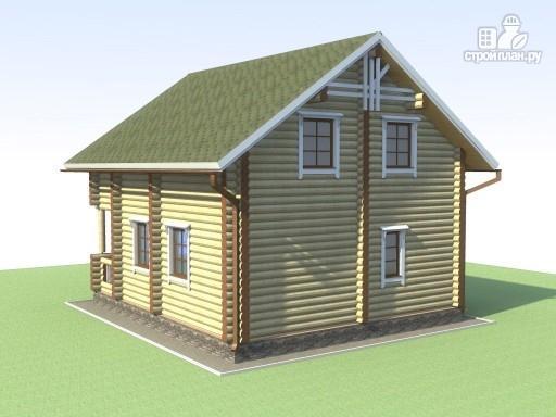Фото 5: проект деревянный дом 6х7 с мансардой и террасой