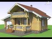 Проект дачный дом с сауной и гаражом