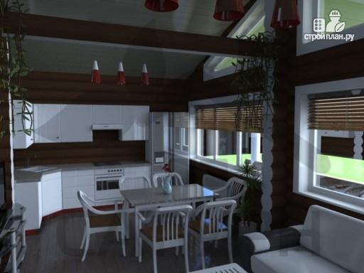 Фото 8: проект одноэтажный деревянный дом с широкой террасой