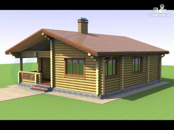 Фото: проект одноэтажный дом из дерева