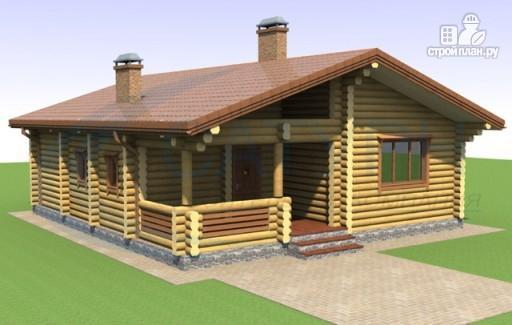 Фото 3: проект одноэтажный дом из дерева