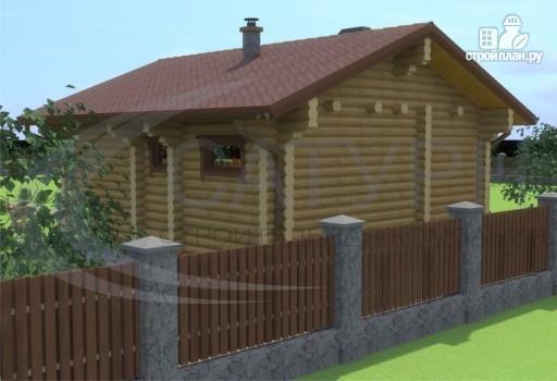 Фото 8: проект деревянный дом с балконами, террасой и сауной