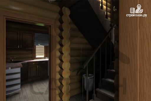 Фото 8: проект деревянный дом с верандой