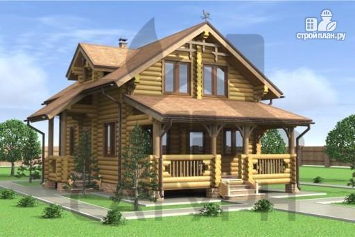Фото 4: проект деревянный дом с верандой