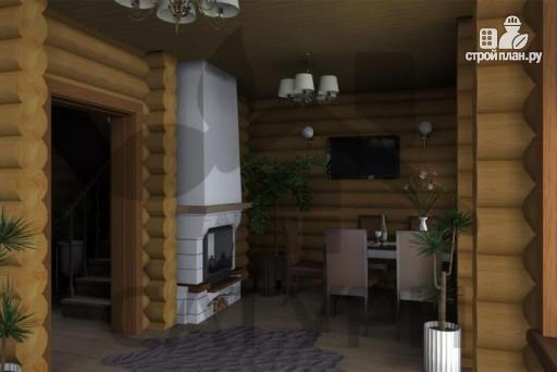 Фото 9: проект деревянный дом с верандой
