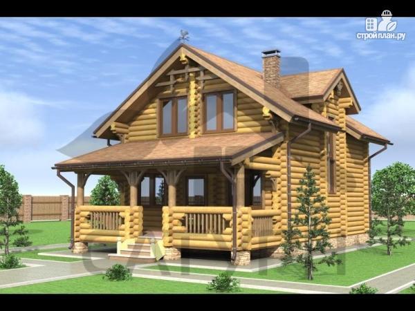 Фото: проект деревянный дом с верандой