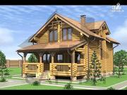 Проект деревянный дом с верандой