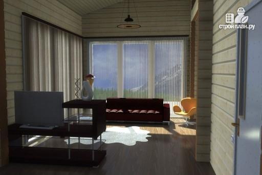 Фото 8: проект одноэтажный дом из дерева с террасой