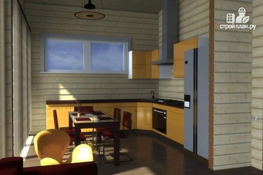 Фото 7: проект одноэтажный дом из дерева с террасой