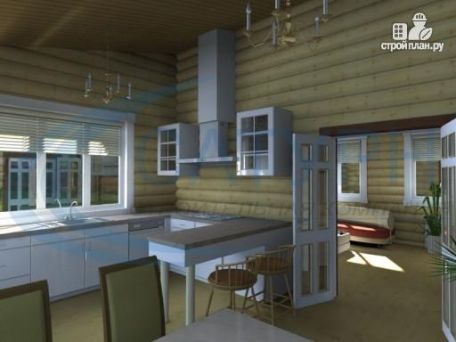 Фото 8: проект одноэтажный деревянный дом с навесом для машины