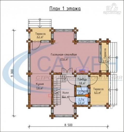 Фото 2: проект деревянный дом с двухсветным холлом