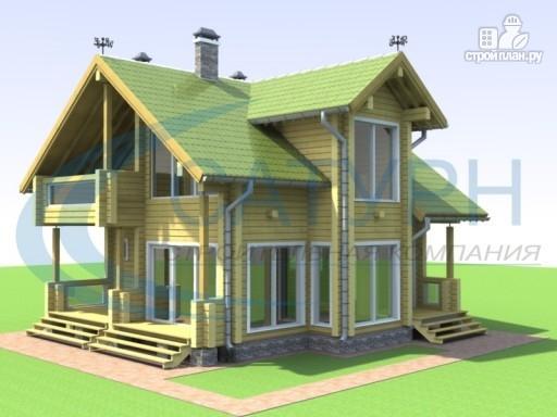 Фото 5: проект деревянный дом с двухсветным холлом