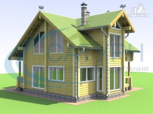 Фото 4: проект деревянный дом с двухсветным холлом