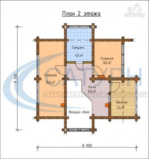 Фото 3: проект деревянный дом с двухсветным холлом