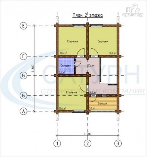 Фото 3: проект дом-шале с балконом